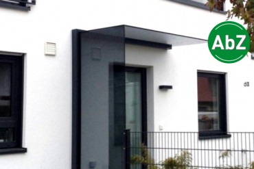Plan Vento Vordach mit Seitenwindschutz