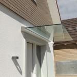eckiges Profil beim Glasvordach Plan D