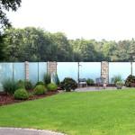 satiniertes Glas bietet auch Sichtschutz