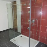 Klarglas-Dusche in U-Form