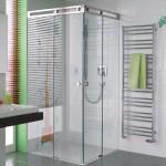 Dusche mit Schiebetür-Funktion