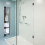 U-Form Duschabtrennung Echtglas