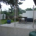 Windschutz mit Klarglas