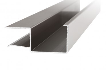 Regenrinne aus Aluminium in Edelstahl-Optik