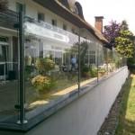 Windschutz-Anlage für Garten-Lokal