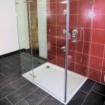 3 Seiten Glas bei der U-Form-Dusche