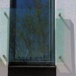 Französischer Balkon mit Punkthaltern aus Edelstahl