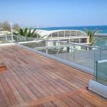 Bodenprofil Serrato für Dachterrasse