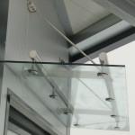 Edelstahl-Konstruktion für Glasvordach Forte