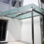 Glasdach Terrasse mit Satin-Glas