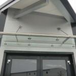 Glasdach Forte mit Rohr-Rahmen aus Edelstahl