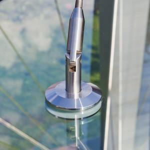 Zugstab und Glashalter aus Edelstahl
