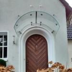 extrem gebogenes Glas für Haustür mit Bogen