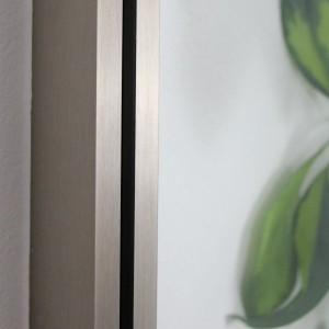 schmales Profil der Glastrennwand Fineline