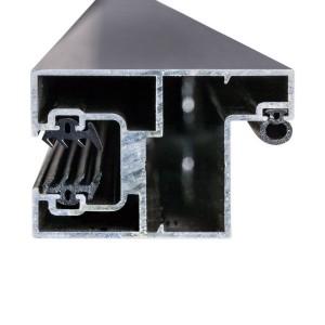 Türzarge mit Gummieinleger für Glasschutz