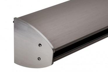 ovales Profil mit Alu-Abdeckung Edelstahleffekt