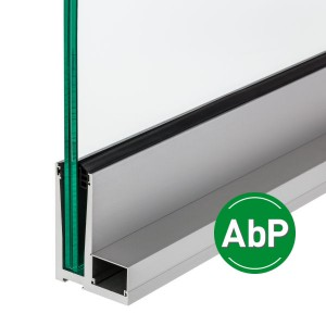 Aluminium-Profil zur aufgesetzten Montage mit Befestigungsflansch