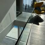 Railing aus Glas für den Treppenaufgang