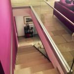 Glasbrüstung für Treppenbereich