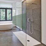 1-teilige Walk-in-Dusche als barrierefreie Dusche