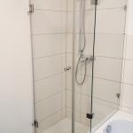 Badewannenanschluss extra Überlappung auf Wannenrand