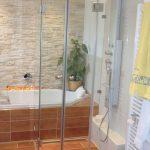 5-Eck Dusche mit Prolock Beschlag